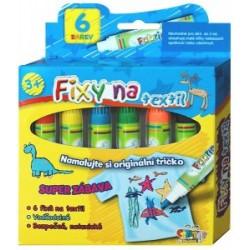 Fixy na textil voděodolné 6 ks