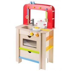 Moderní dřevěná kuchyňka s příslušenstvím, 7 dílů