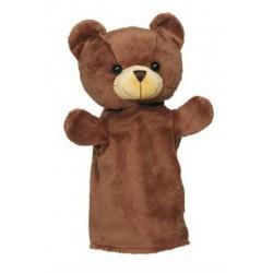 Maňásek na ruku plyš – medvídek
