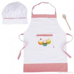 Kuchyňská zástěrka, čepice a vařečka