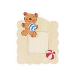 Dřevěný rámeček na fotky k vymalování - Medvídek