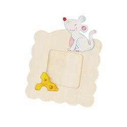 Dřevěný rámeček na fotky k vymalování - Myška