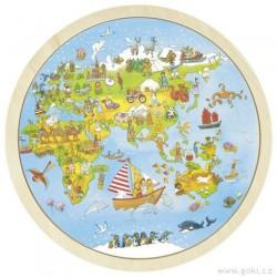 Oboustranné puzzle – Cesta kolem světa, 56 dílů