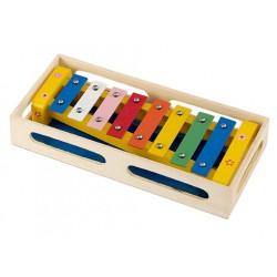 Xylofon v dřevěné krabičce