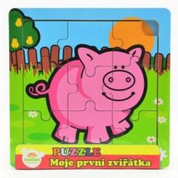 Puzzle mini Moje první zvířátka - Prasátko