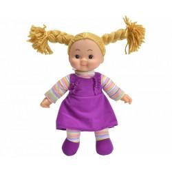 Panenka Cheeky látková 38 cm fialové šaty