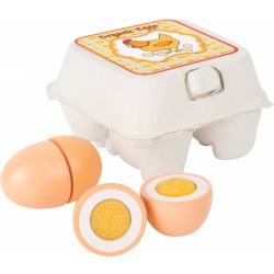 Dřevěná vajíčka v kartonu