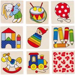 Obrázkové pexeso hračky, 16 dílů