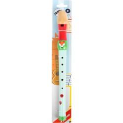 Dřevěná flétna s lištičkami