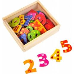 Magnetky dřevěné číslice 40 ks