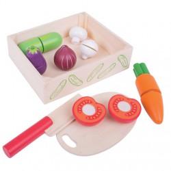 Krájení zeleniny v krabičce