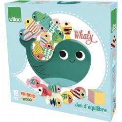 Dřevěná balanční hra Velryba