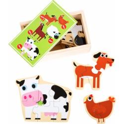 Puzzle v krabičce - Farma