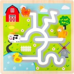 Posouvací puzzle - Farma