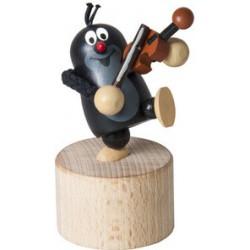 Mačkací figurka Krtek houslista