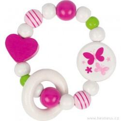 Kroužek do ruky – bílá a růžová