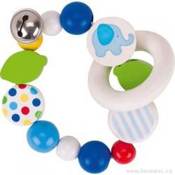 Modré slůně – elastický kroužek s rolničkou