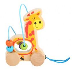 Tahací zvířátko s labyrintem - Žirafa