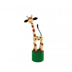 Mačkací figurka Žirafa přírodní