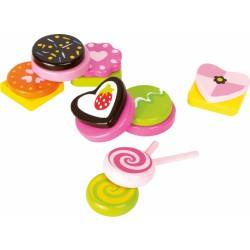 Růžové sladkosti ze dřeva