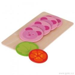 Doplňky pro dětskou kuchyňku – salám s medvídkem