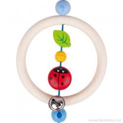 Dřevěný kroužek beruška