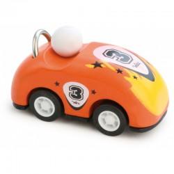 Dřevěné závodní auto kabriolet zpětný chod - oranžové
