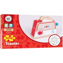 Dřevěný toaster s puntíky