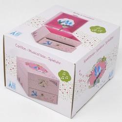 Hrací skříňka růžová Sýkorka