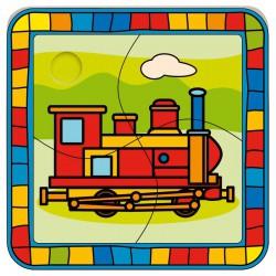 Puzzle mini - Lokomotiva
