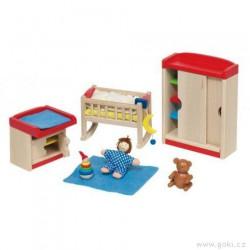 Nábytek pro panenky moderní – dětský pokoj 12 dílů