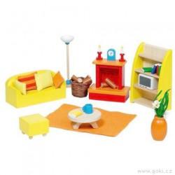 Nábytek pro panenky moderní – obývací pokoj 24 dílů