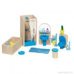 Nábytek pro panenky moderní – koupelna 17 dílů