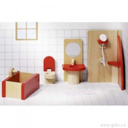 Nábytek pro panenky basic – koupelna 5 dílů
