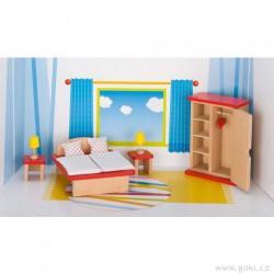 Nábytek pro panenky basic – ložnice 11 dílů