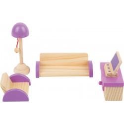 Nábytek pro panenky - Obývací pokoj 5 dílů