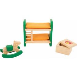 Nábytek pro panenky - Dětský pokojíček 3 díly