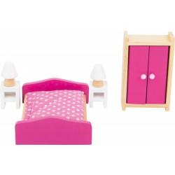 Nábytek pro panenky - Ložnice 6 dílů
