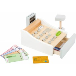 Dřevěná evidenční pokladna bílá