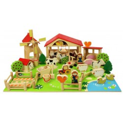 Bigjigs Toys Velká dřevěná farma