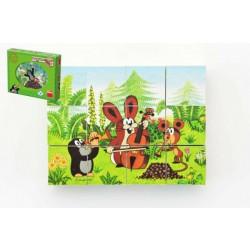 Dino Dřevěné kostky Krtek a přátelé 12 kostek