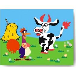 Vkládačka - Kohout a kráva