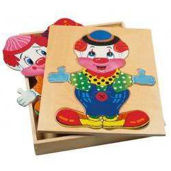 """Puzzle šatní skříň """"Klaun"""""""