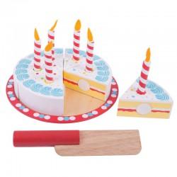 BigJigs Krájecí narozeninový dort