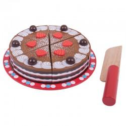 Krájecí čokoládový dort