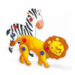 Tecno Puzzle 3D - lev a zebra