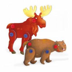 Tecno Puzzle 3D - medvěd a los