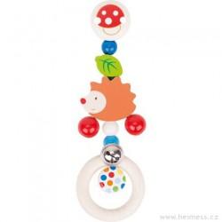 Závěsná dřevěná hračka Ježek