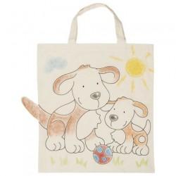 Bavlněná taška k vymalování – Pejsci