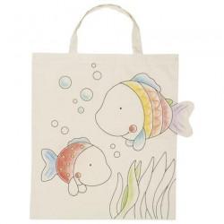 Bavlněná taška k vymalování – Rybky